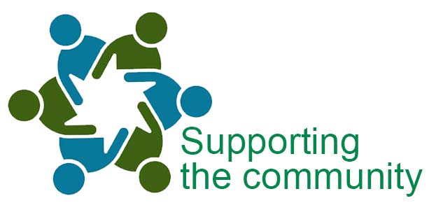 Supporting community logo